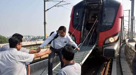 Among those stuck in Lucknow Metro were schoolchildren, seniorcitizens