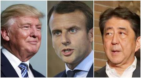 France discusses increased pressure on North Korea with Donald Trump, ShinzoAbe