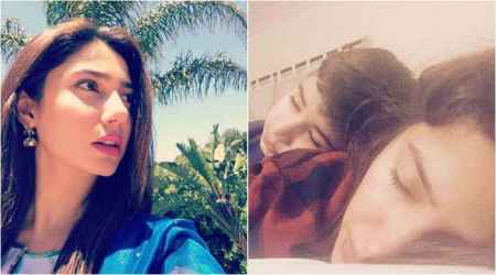 Mahira Khan is feeling grateful to be Azlaan's mother. Don't miss the adorablephoto