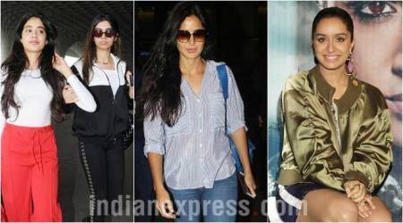 Celeb spotting: Sridevi's daughters Jhanvi-Khushi head for vacations, Katrina Kaif wraps up Tiger Zinda Hai and Shraddha Kapoor promotes Haseena Parkar