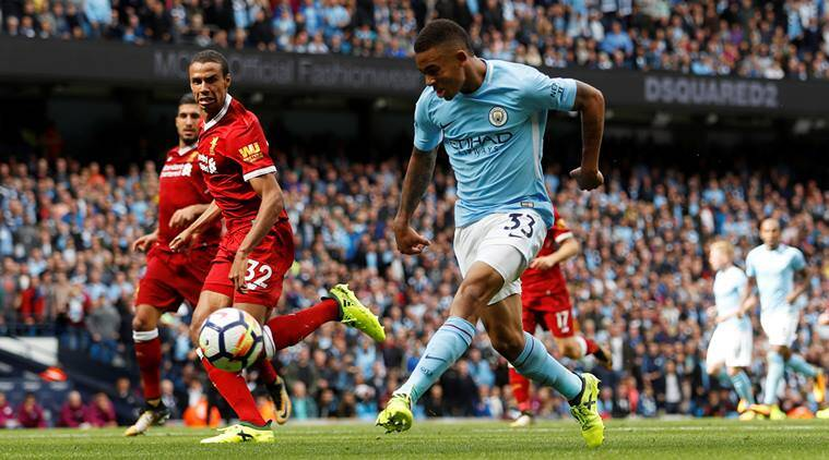 Image result for aguero gabriel jesus city 5-0 liverpool