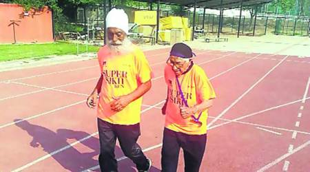 man kaur, 101 year old athlete, old chandigarh athlete, china masters, chinese embassy, sports news, indian express