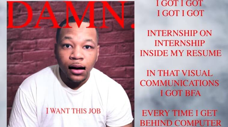 watch guy raps his resume to get an internship with his dream