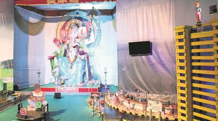 Ganesh Mandals pick selfie addiction, Blue Whale as themes