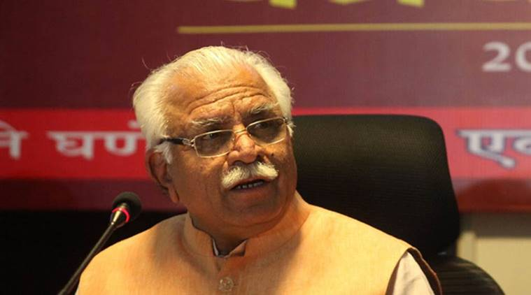 Manohar Lal Khattar , small lakes water bodies IN ncr, Haryana to build water bodies in NCR, Water bodies in NCR, Lakes in NCR, Indian Express News