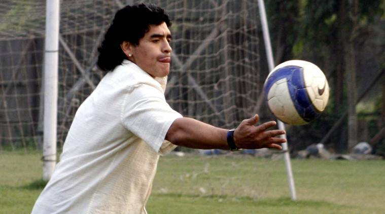 Diego Maradona, Sourav Ganguly, Exhibition match, sports news, football, Indian Express