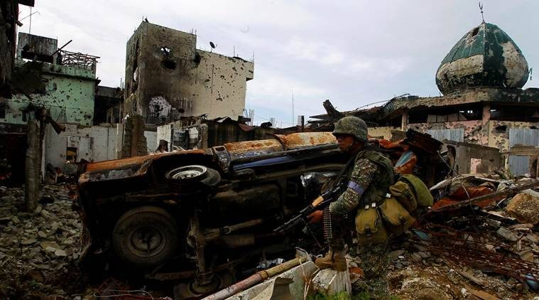 philippine, isis, marawi city, islamic state, is controlled marawi, duterte, philippine army, world news, south asia news, indian express