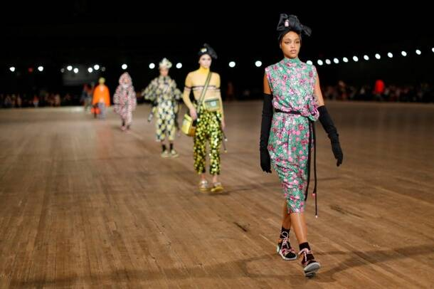 Marc Jacobs concluded New York Fashion Week with a colour blast