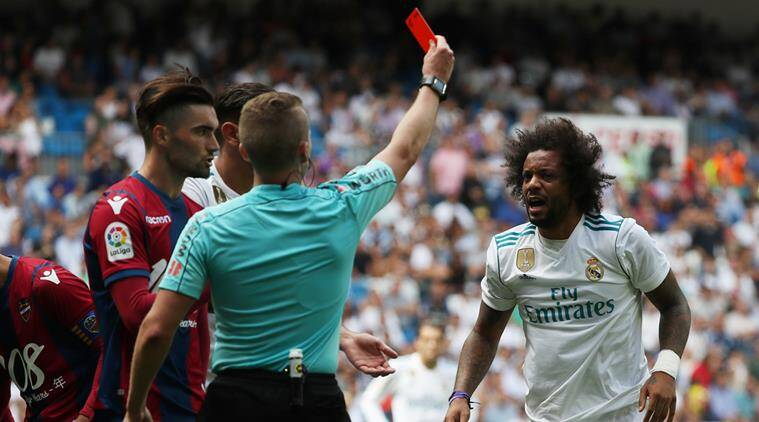 marcelo, real madrid, marcelo contract, marcelo match ban, football, sports news, indian express