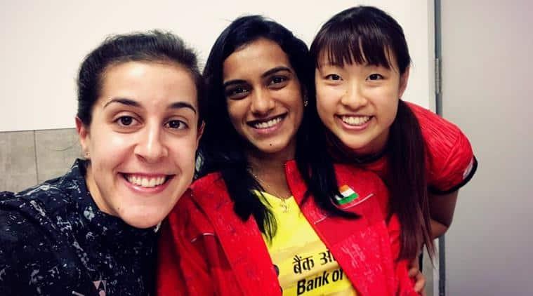 PV Sindhu, Carolina Marin, Nozomi Okhuara, Japan Open Super Series, japan Super Series, badminton news, Indian Express