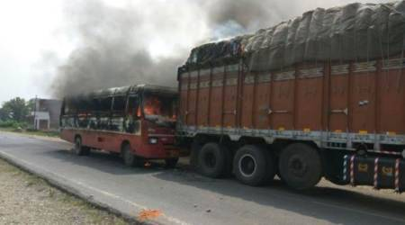 Truck mows down Class 12 boy in Mau, fellow students torch 2 buses