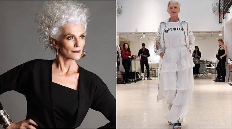 maye musk, elon musk, elon musk mother, new york fashion week nyfw 2017 maye musk, maye musk img models, fashion news, lifetsyle news, indian express