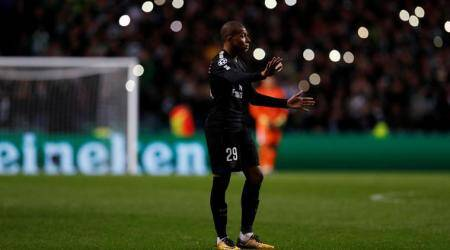 UEFA Champions League: Fan runs on the pitch to aim kick at Kylian Mbappe