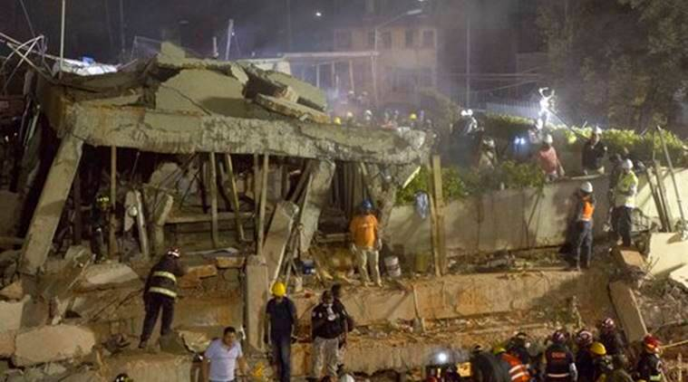 Image result for Mexico school collapse spurs doubts over building code for quakes