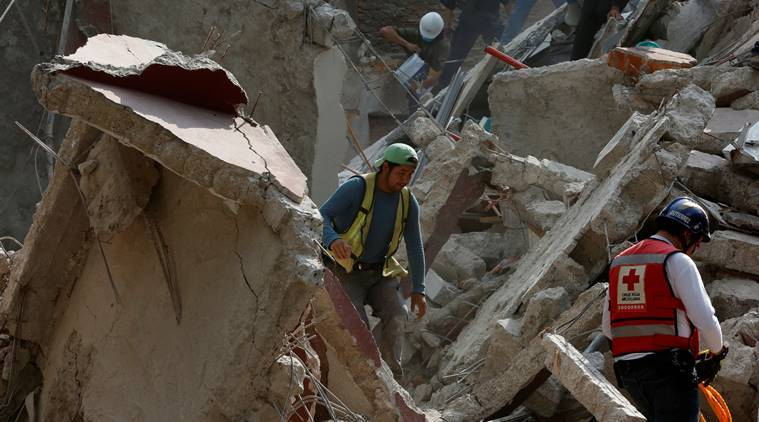 mexico earthquake, earthquake, mexico quake, Earthquake in mexico, US Geological Survey, Mexico city, World news, Indian express news