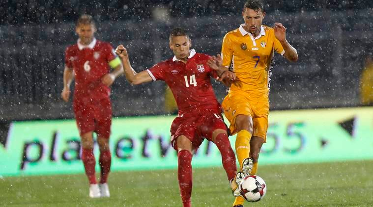 Mijat Gacinovic shines as Serbia beat Moldova, stay top of their qualifying group