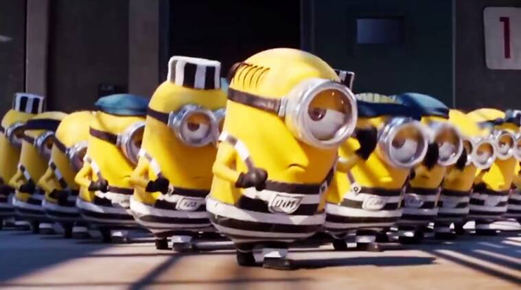 Jimikki Kammal song, Jimikki Kammal video, minions dancing on Jimikki Kammal, minions videos, minions dancing to the beat of Jimikki Kammal, Indian express, Indian express news