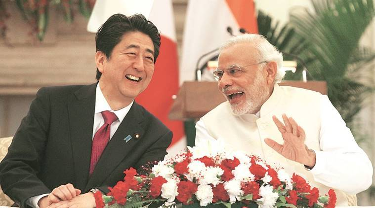 Narendra Modi, Modi Shinzo Abe, Abe in India, India Japan talks, Modi Xi talks, India news, Indian Express