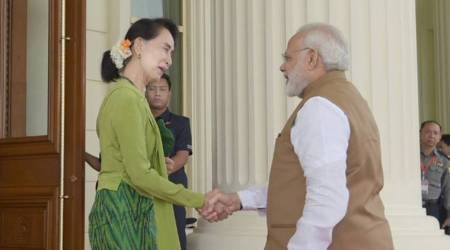 Modi in Myanmar: Photos of PM's meet with Aung San Suu Kyi, Htin Kyaw