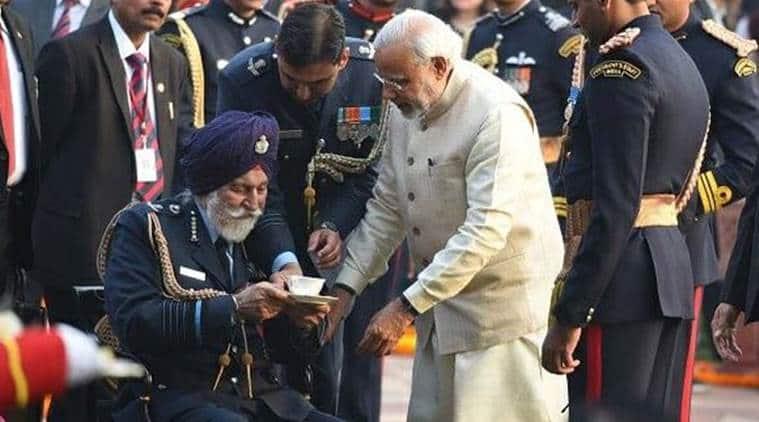 Arjan Singh, Narendra Modi,Arjan Singh demise, IAF Marshal, Modi on Arjan Singh, MOdi on Twitter, Arjan singh news, Indian express
