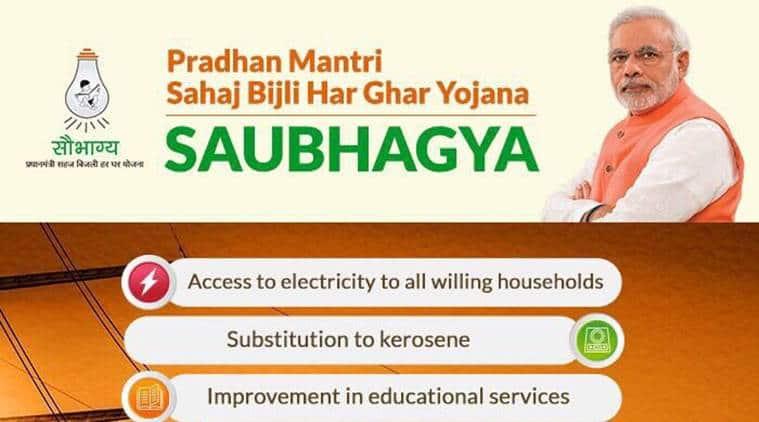 Saubhagya Yojana, what is Saubhagya Yojana, Narendra Modi, Modi power scheme, Pradhan Mantri Sahaj Bijli Har Ghar Yojana, indian express