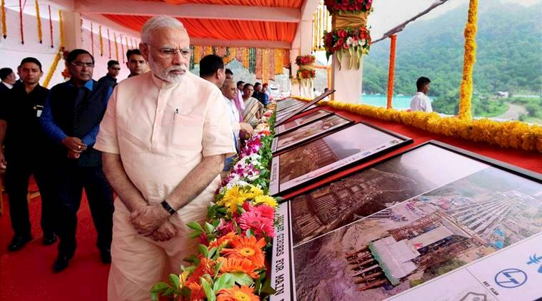 Narendra Modi, PM Modi, Sardar Sarovar Dam, Narmada river, Modi inaugurates sardar sarovar dam, world bank, Gujarat, gujarat dam, kevdiya, india news, indian express