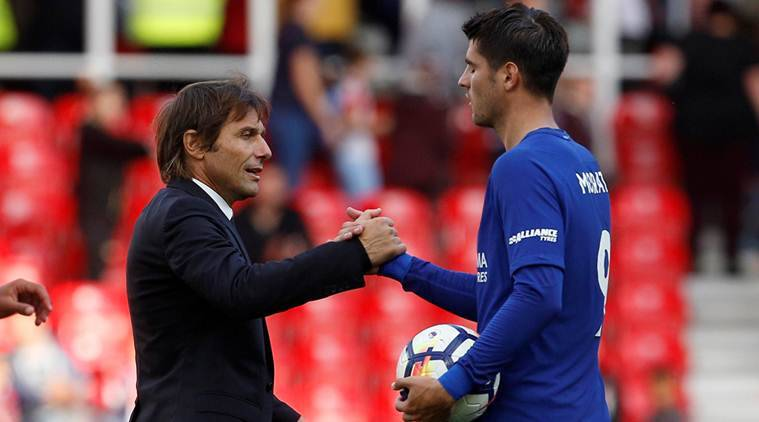 Diego Costa, Alvaro Morata, Chelsea, Stoke City, sports news, football, Indian Express