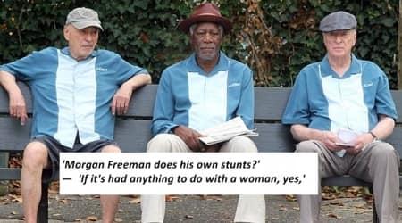 Morgan Freeman, Alan Arkin, Michael Caine, interview, hollywood actors interview, indian express, indian express news