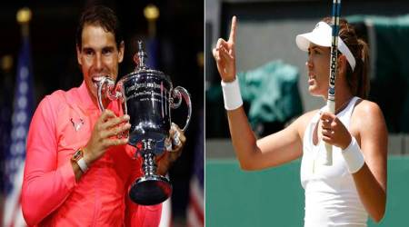 garbine muguruza, rafael nadal, tennis world no 1, us open 2017, tennis news, sports news, indian express