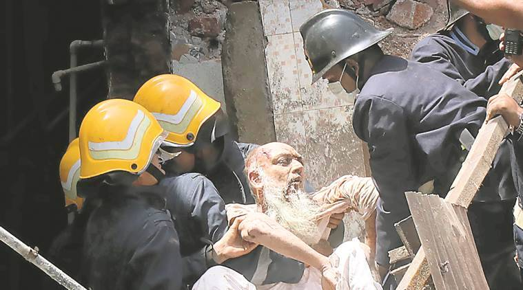 Mumbai building collapse, Mumbai building collapse death toll, Husaini building collapse, building collapse news, Mumbai news, Indian Express