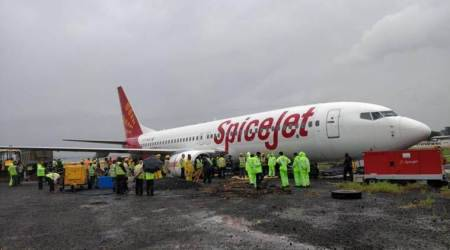 MIAL, MIAL on Spicejet aircraft skidding, mumbai rainfall, mumbai rainfall flight cancelled, AAI, Mumbai airport, indian express news