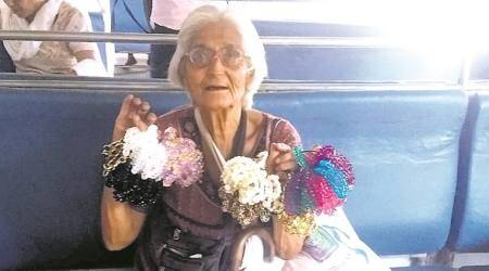 Getting in and out of trains to sell bracelets at 86: 'It's my lifeline'