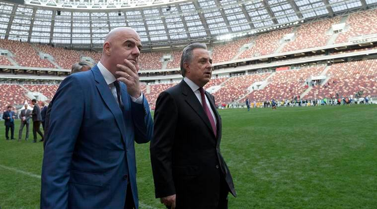 Gianni Infantino, Vitaly Mutko, FIFA, Miguel Maduro, Football news, Football, Indian Express