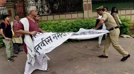 Narmada protests, Congress, Narmada farmers, Narmada rehabilitation, BJP, Narendra Modi, India news, Indian Express