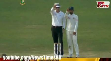 Bangladesh's Nasir Hossain gives Pat Cummins a unique send off, watch video
