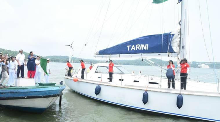 Navy's women team sets sail from Goa to circumnavigate globe