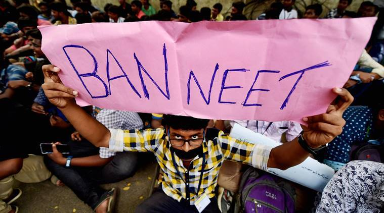 neet, neet 2017, anitha suicide, neet dalit girl, neet tamil nadu, tamil nadu protest, tamil nadu medical colleges, medical college admission, education news, indian express