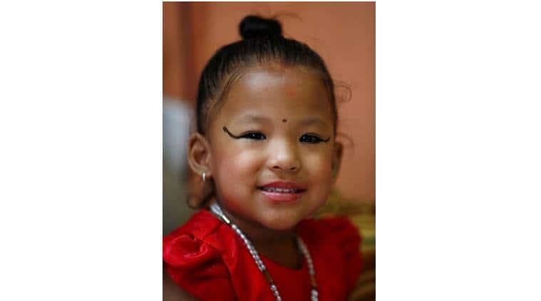 Living goddess, nepal living goddess, nepal goddess, trishna shakya, nepal three year old, living goddess kumari, nepal, nepal news