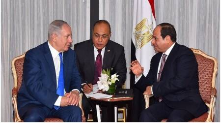 Israel's Netanyahu and Egypt's Sisi meet for first time in public