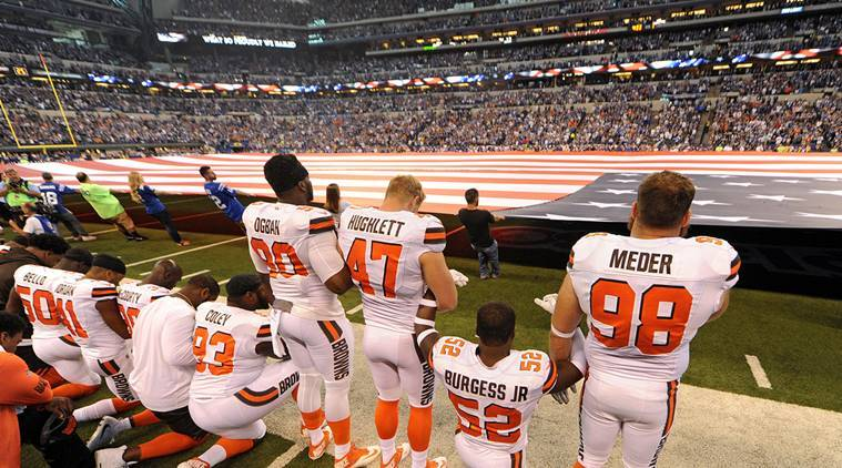 NFL Players Protest During National Anthem After Trump Demands They Be Fired
