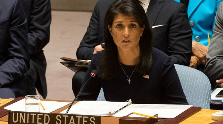 Nikki Haley, Donald Trump, Noirth Korea, Kim Jong Un, Iran, iran nuclear deal, US ambassador, United Nations, US-Iran, Iran deal, US Sanctions on Iran, World News, Indian Express