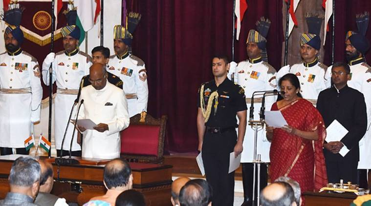 Nirmala Sitharaman, Nirmala defence minister, Defence portfolio, cabinet reshuffle, first woman defence minister, India news, Indian Express