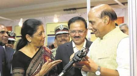 Nirmala Sitharaman, military, india military, Defence Minister, Make in India, Make in India defence, Armed forces preparedness, India News, Indian Express