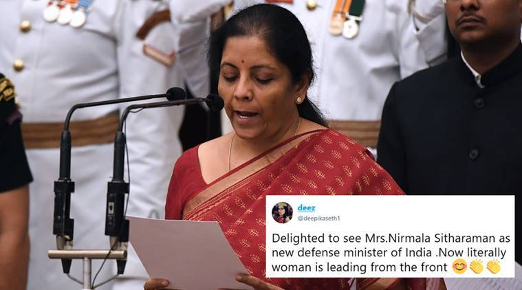 cabinet reshuffle, nirmala sitharaman, defence ministry, indian women defence minister, modi govt, modi govt women ministers, women cabinet ministers, india news, indian express,