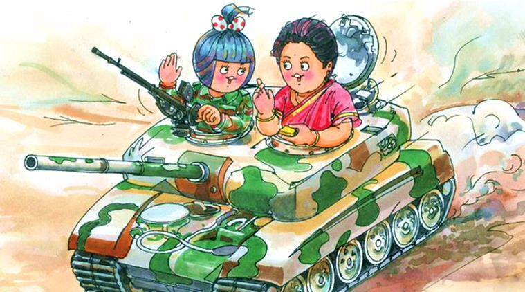 nirmala sitharaman, defence minister, defence ministry, nirmala sitharaman defence minister, nirmala sitharaman amul cartoon, amul, nirmala sitharaman twitter reactions, indian express, indian express news