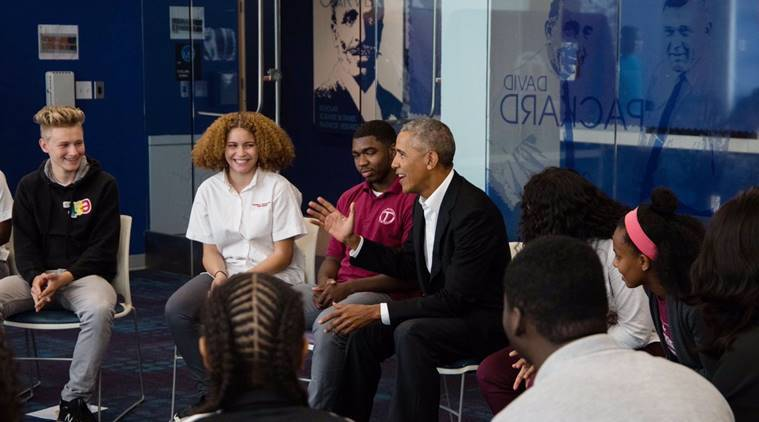 Former President Surprises High School Kids