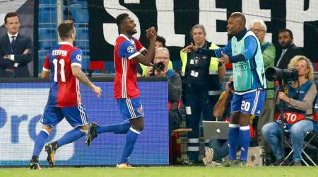 UEFA Champions League: Basel ride on birthday boy Dimitri Oberlin to beat Benfica 5-0