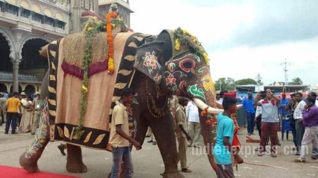 Dussehra, Dasara, Mysuru Dasara, Dasara Mysuru, Mysuru Dussehra celebrations, Karnataka Dussehra celebrations, Mysuru palace, India news, Indian Express
