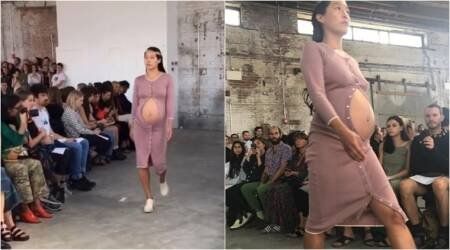 new york fashion week, pregnant models, pregnant models in india, pregnant models walking the ramp, indian express, indian express news