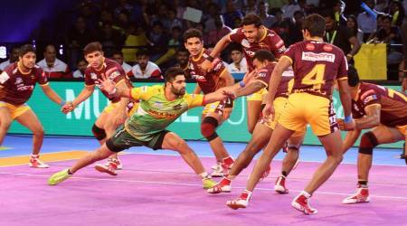 pro kabaddi live score, kabaddi live score, live kabaddi streaming, live pro kabaddi, live kabaddi, live Patna pirates vs UP Yoddha, kabaddi news, sports news, indian express